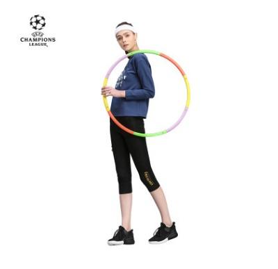 【孚德品牌】欧冠正品女款黑色瑜伽紧身运动七分裤