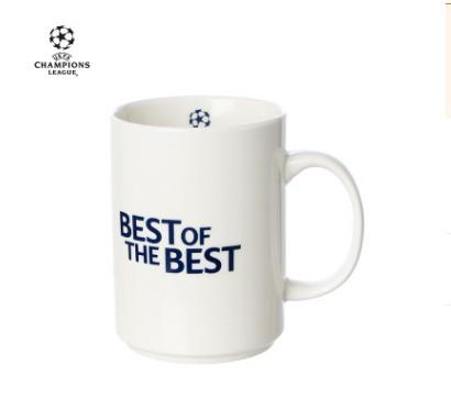 【孚德品牌】欧冠正品15OZ白色直升杯马克杯