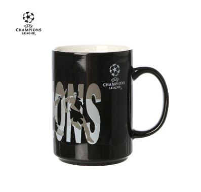 【孚德品牌】欧冠正品15OZ黑色直升杯马克杯