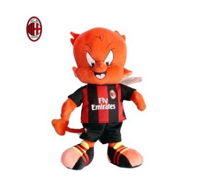 【孚德品牌】AC米兰官方正品红黑米兰内洛毛绒吉祥物 足球周边球迷礼物纪念品