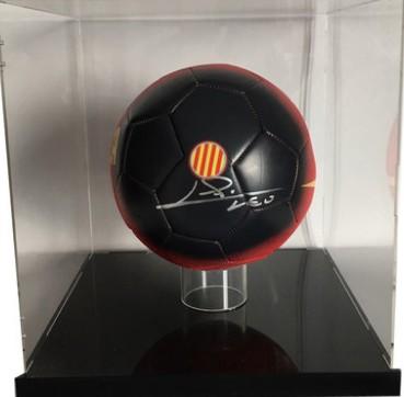 【不易流行】【包邮】梅西 巴塞罗那队 含SA证书 亲笔签名 足球 裱框