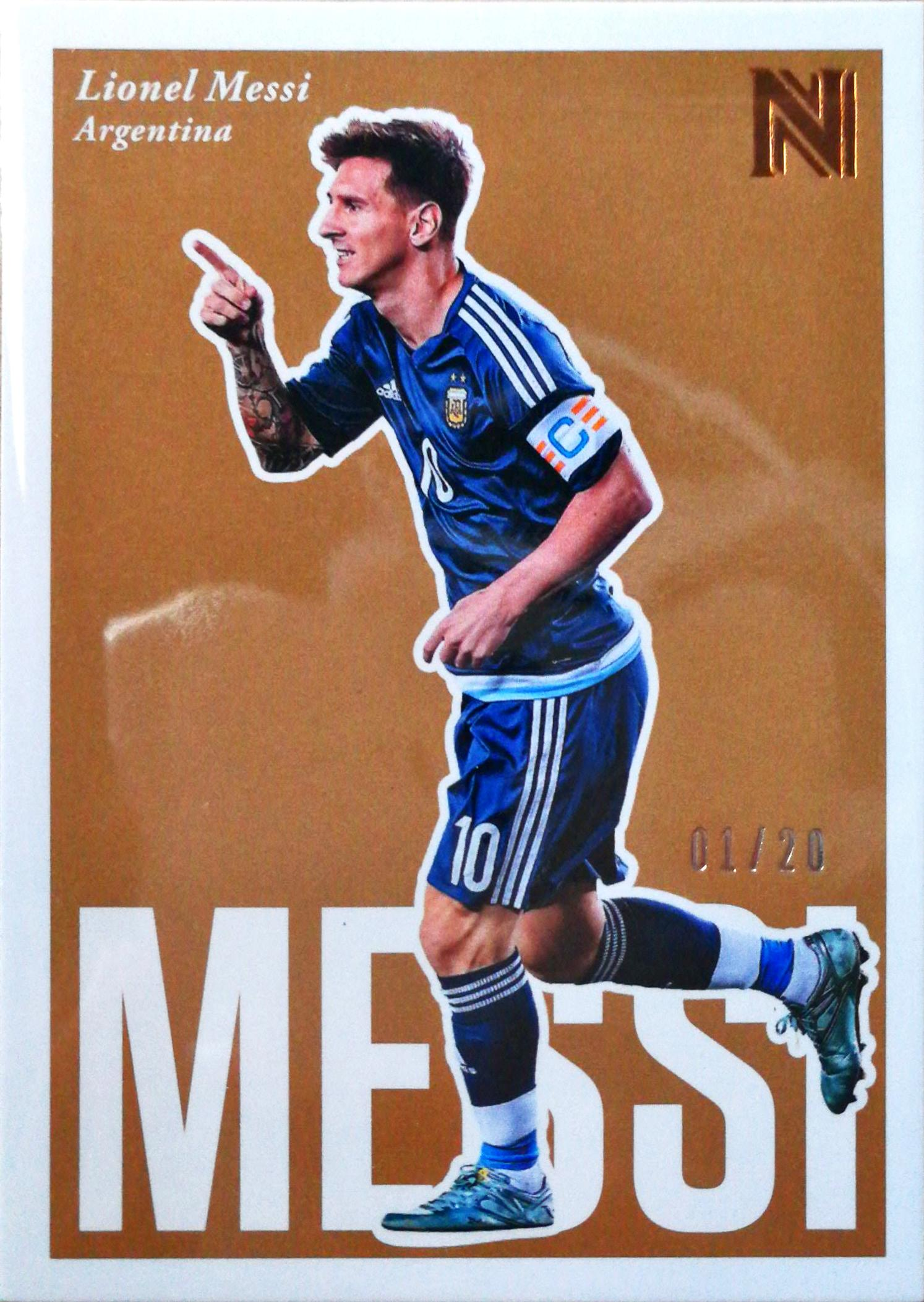 【Ed】2017Panini崇高足球球星卡Lionel Messi梅西阿根廷1/20NO.99基础卡SP特殊号