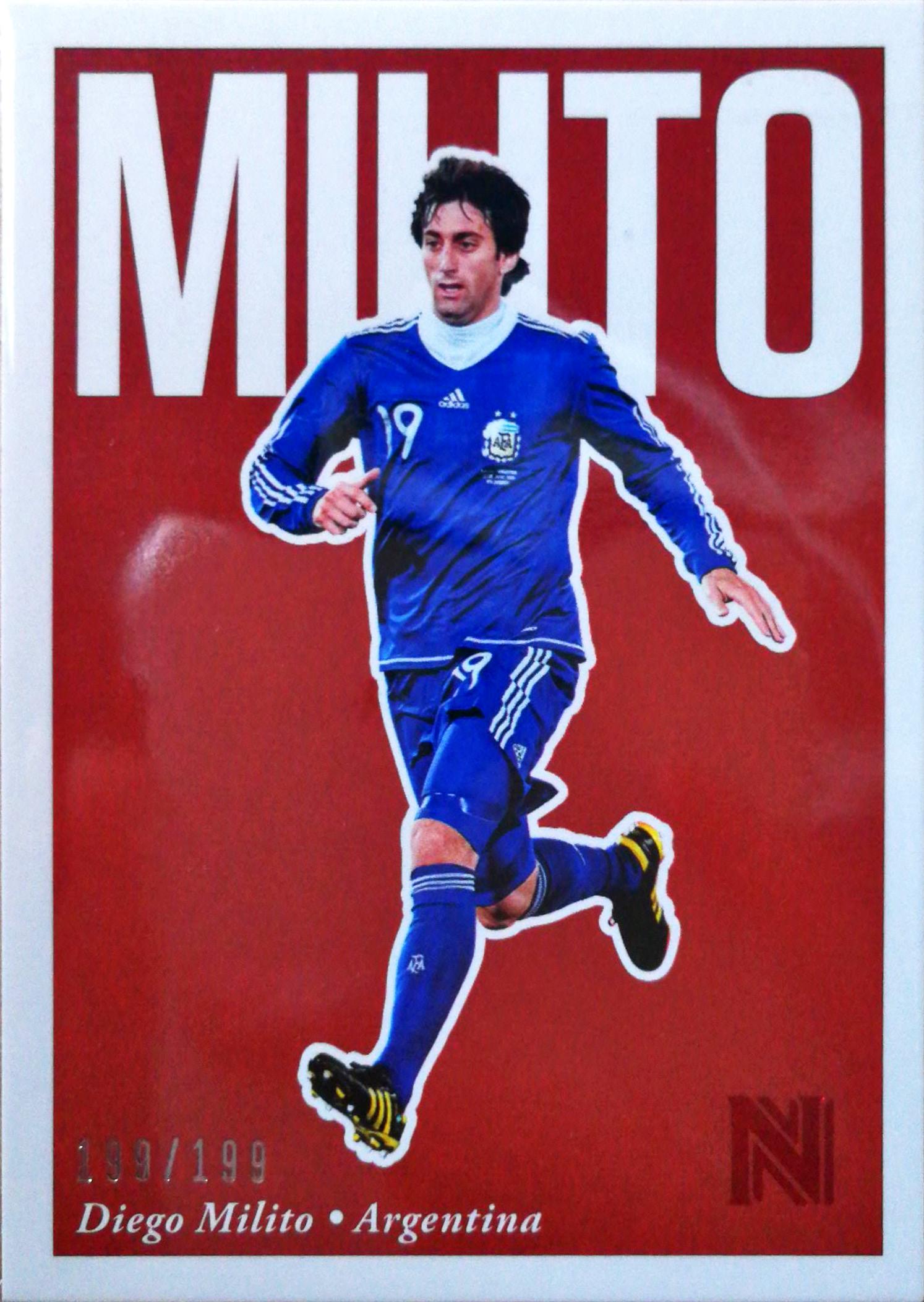 【自若清风】2017Panini崇高足球球星卡Diego Milito米利托阿根廷199/199NO.9基础卡特殊号