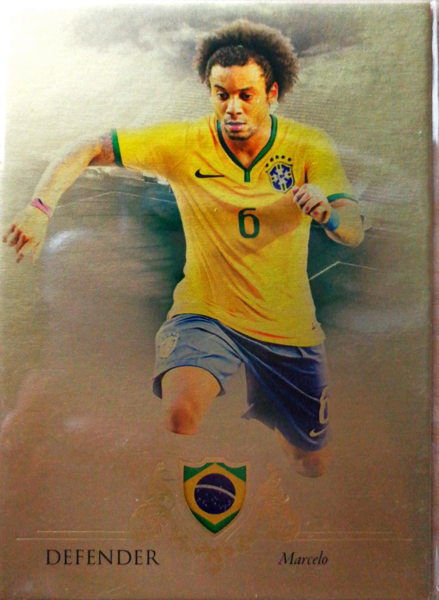 【自若清风】2016Futera世界足球Unique特制版球星卡Marcelo马塞洛巴西1/11NO.018基础卡特殊号