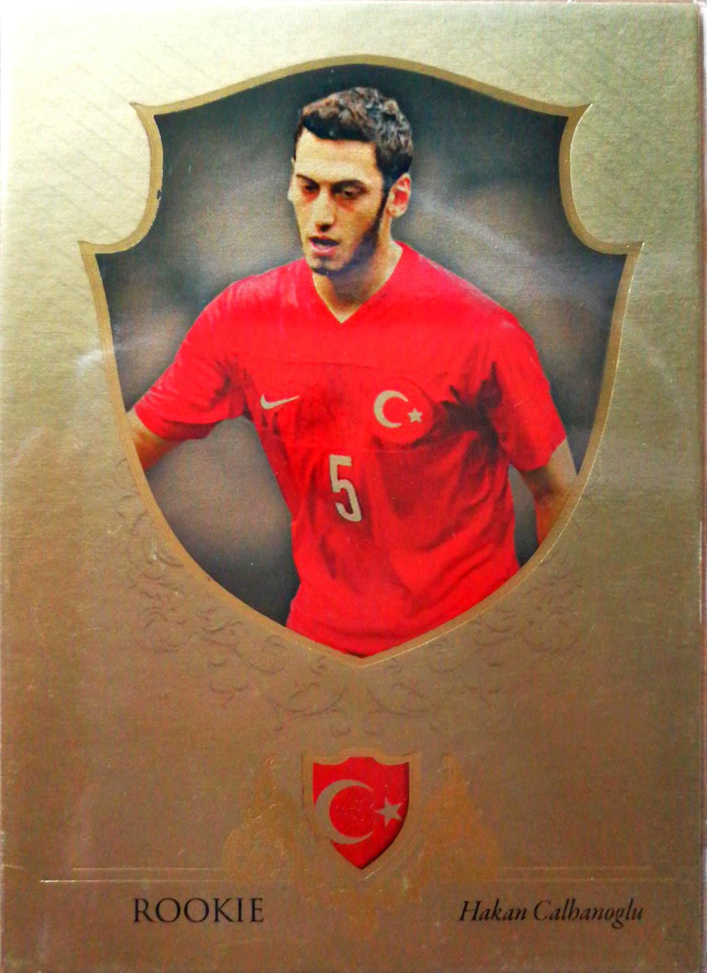 【Ed】2016Futera世界足球Unique特制版球星卡Hakan calhanoglu恰尔汗奥卢土耳其1/11NO.091基础卡特殊号