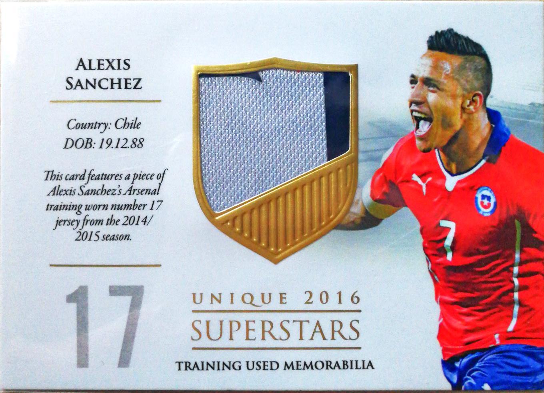【Ed】2016Futera世界足球Unique特制版球星卡Alexis Sanchez桑切斯智利1/59实物特殊号