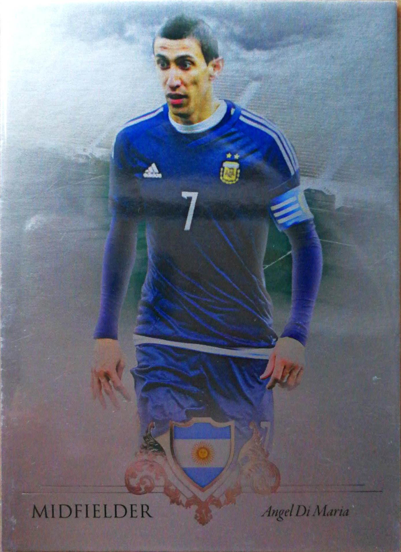 【Ed】2016Futera世界足球Unique特制版球星卡Angel Di Maria迪马利亚阿根廷7/21NO.036基础卡特殊号