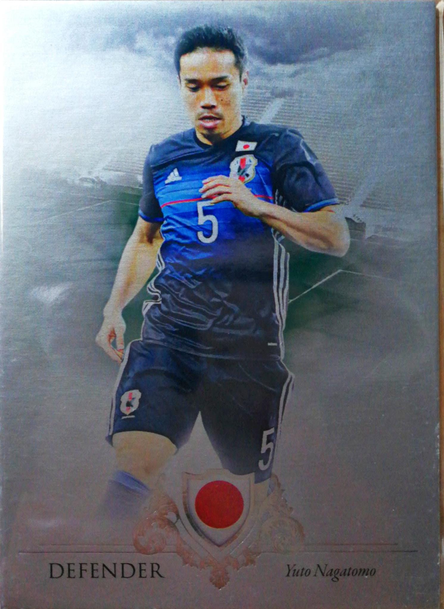 【Ed】2016Futera世界足球Unique特制版球星卡Yuto Nagatomo长友佑都日本5/21NO.021基础卡特殊号