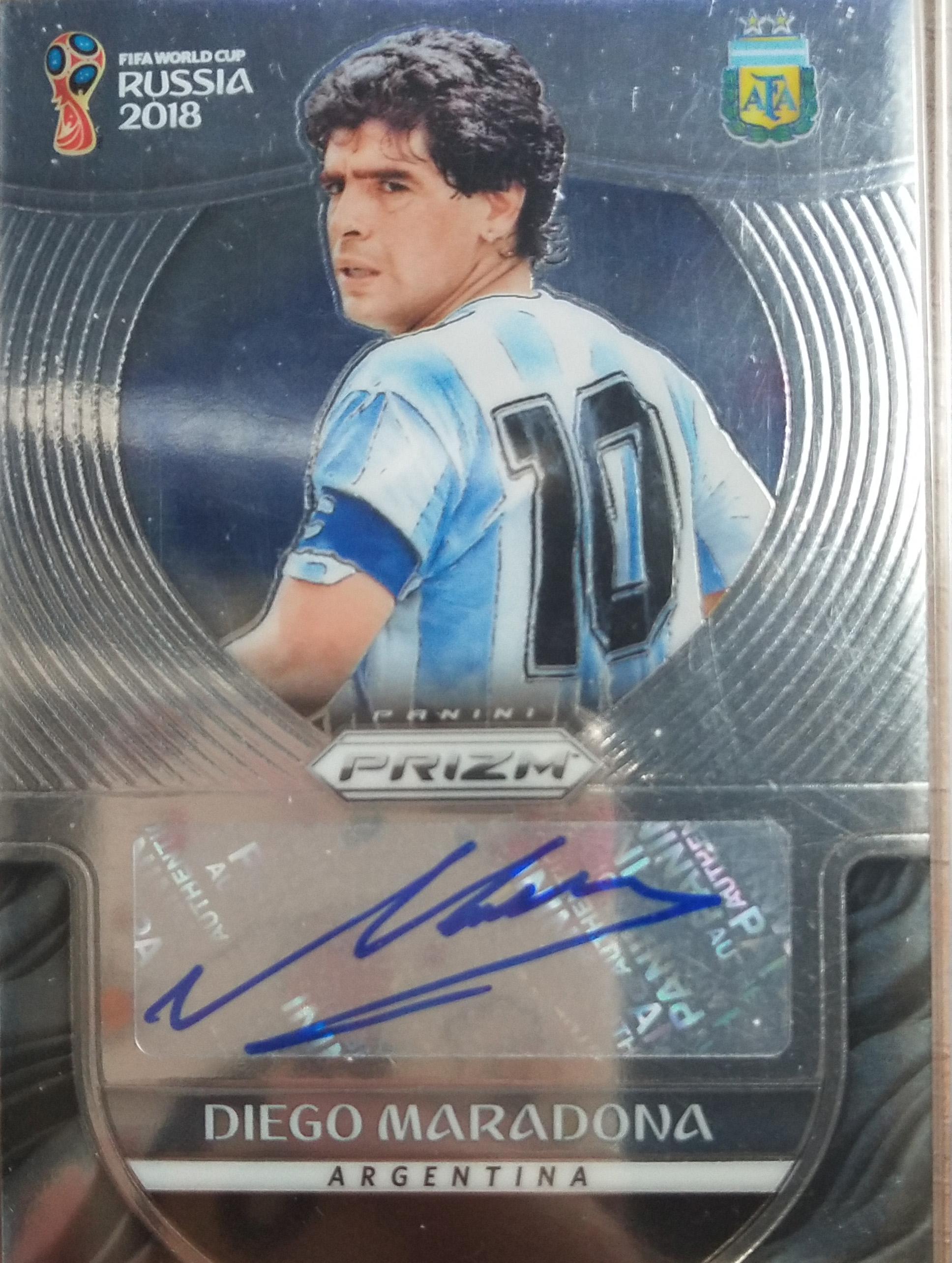 【自若清风】2018Panini帕尼尼俄罗斯世界杯球星卡Diego Maradona马拉多纳阿根廷签字