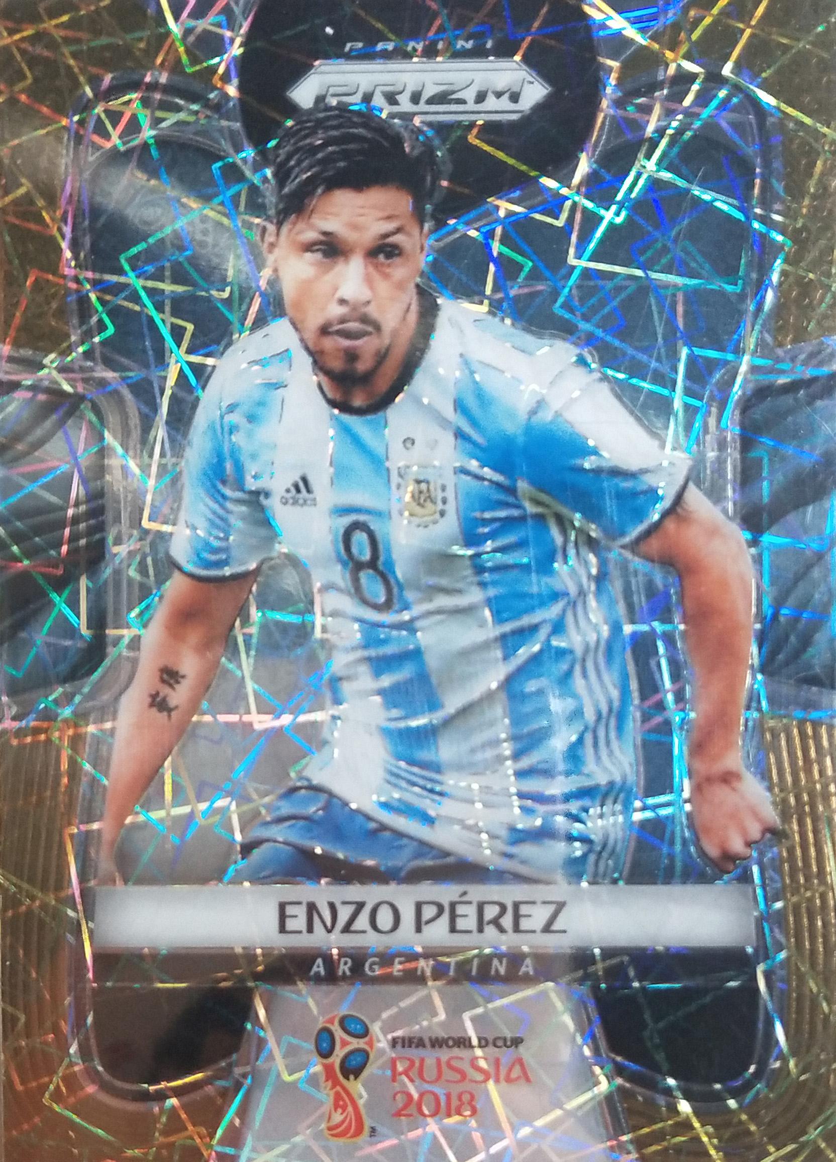 【自若清风】2018Panini俄罗斯世界杯球星卡Enzo Perez佩雷斯阿根廷15/15NO.12普卡
