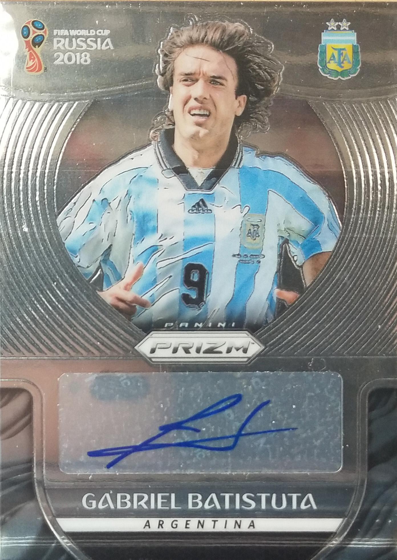 【自若清风】2018Panini帕尼尼俄罗斯世界杯球星卡Gabriel Batistuta巴蒂斯图塔阿根廷签字
