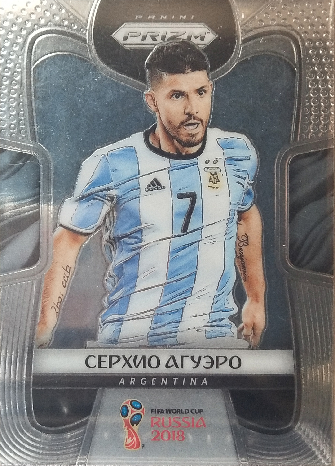 【风筝】2018Panini帕尼尼俄罗斯世界杯球星卡Sergio Aguero阿圭罗阿根廷NO.11俄语变异