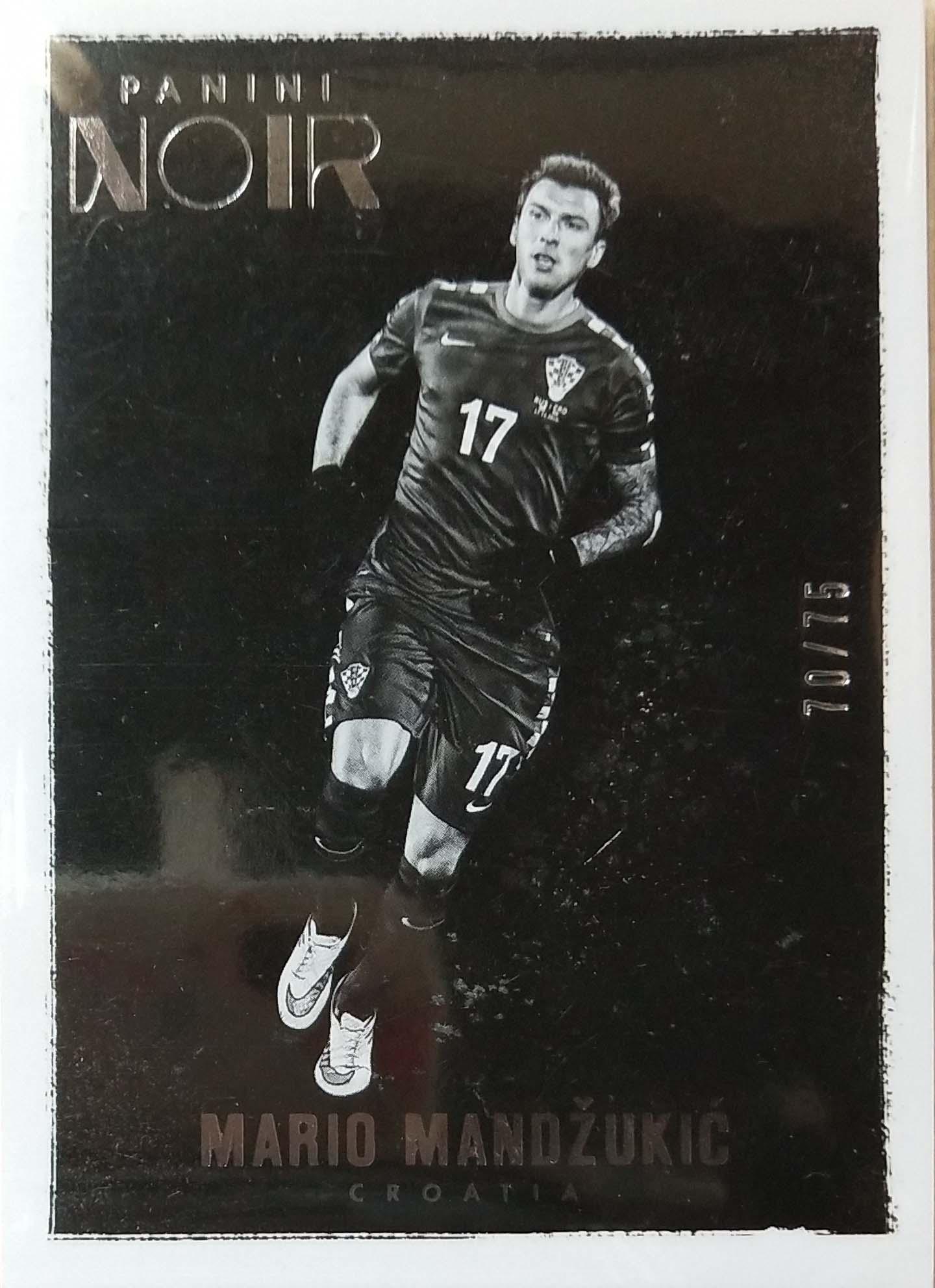 【普拉蒂尼】2016Panini帕尼尼诺尔球星卡Mario Mandzukic曼祖基奇克罗地亚70/75NO.22基础卡
