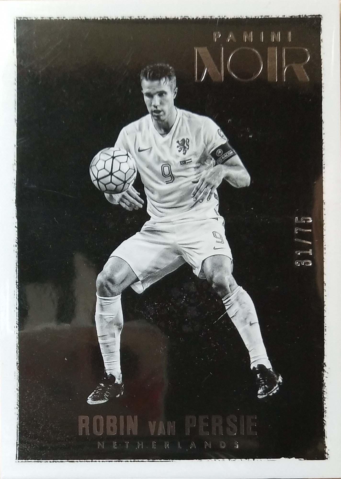 【普拉蒂尼】2016Panini帕尼尼诺尔球星卡Robin van Persie范·佩西荷兰31/75NO.61基础卡