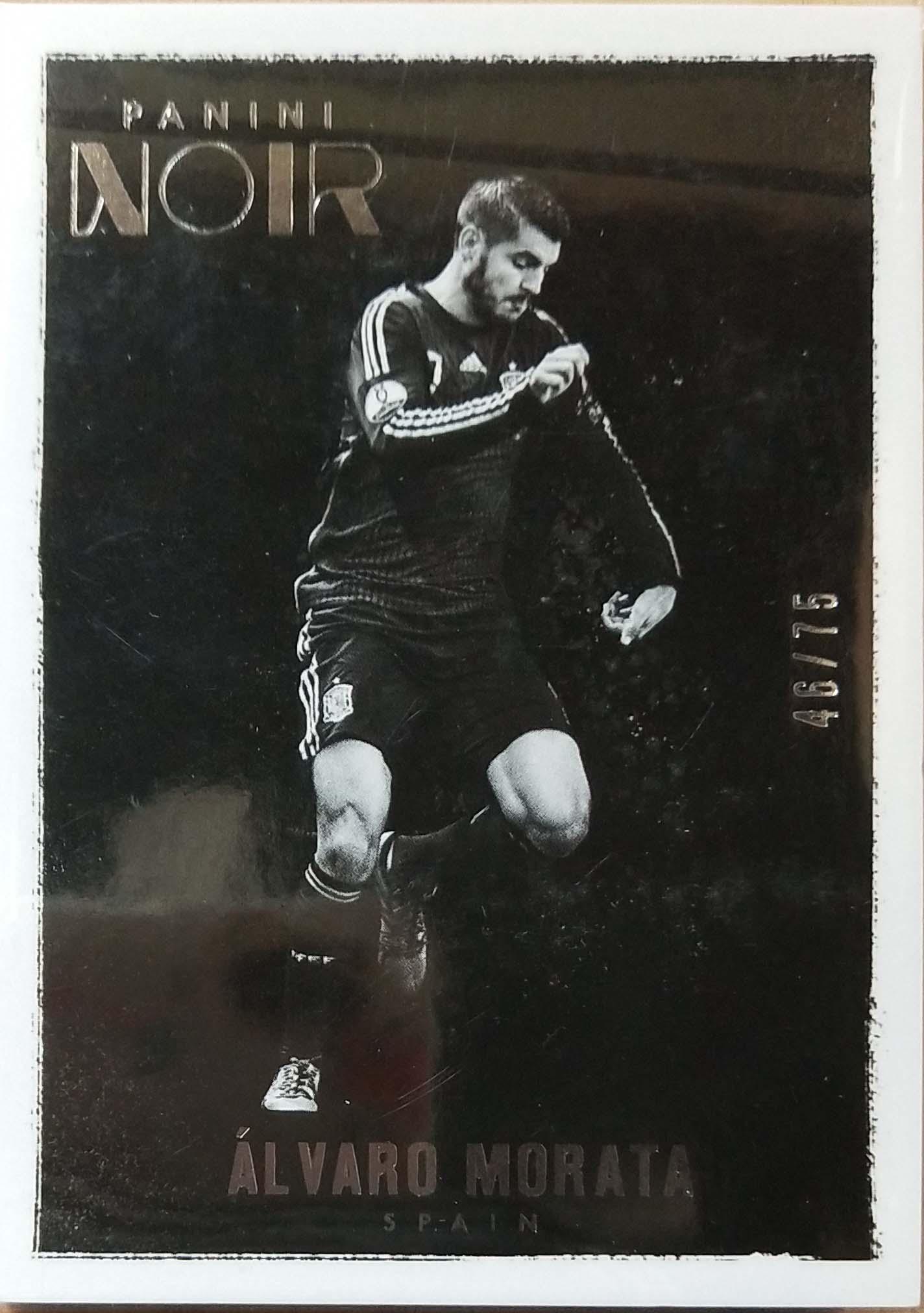 【普拉蒂尼】2016Panini帕尼尼诺尔球星卡Alvaro Morata莫拉塔西班牙46/75NO.78基础卡