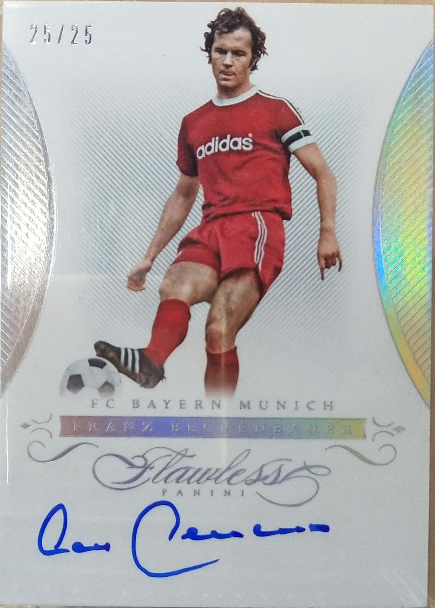 【自若清风】2016Panini帕尼尼手提箱足球球星卡Franz Beckenbauer贝肯鲍尔拜仁慕尼黑25/25签字