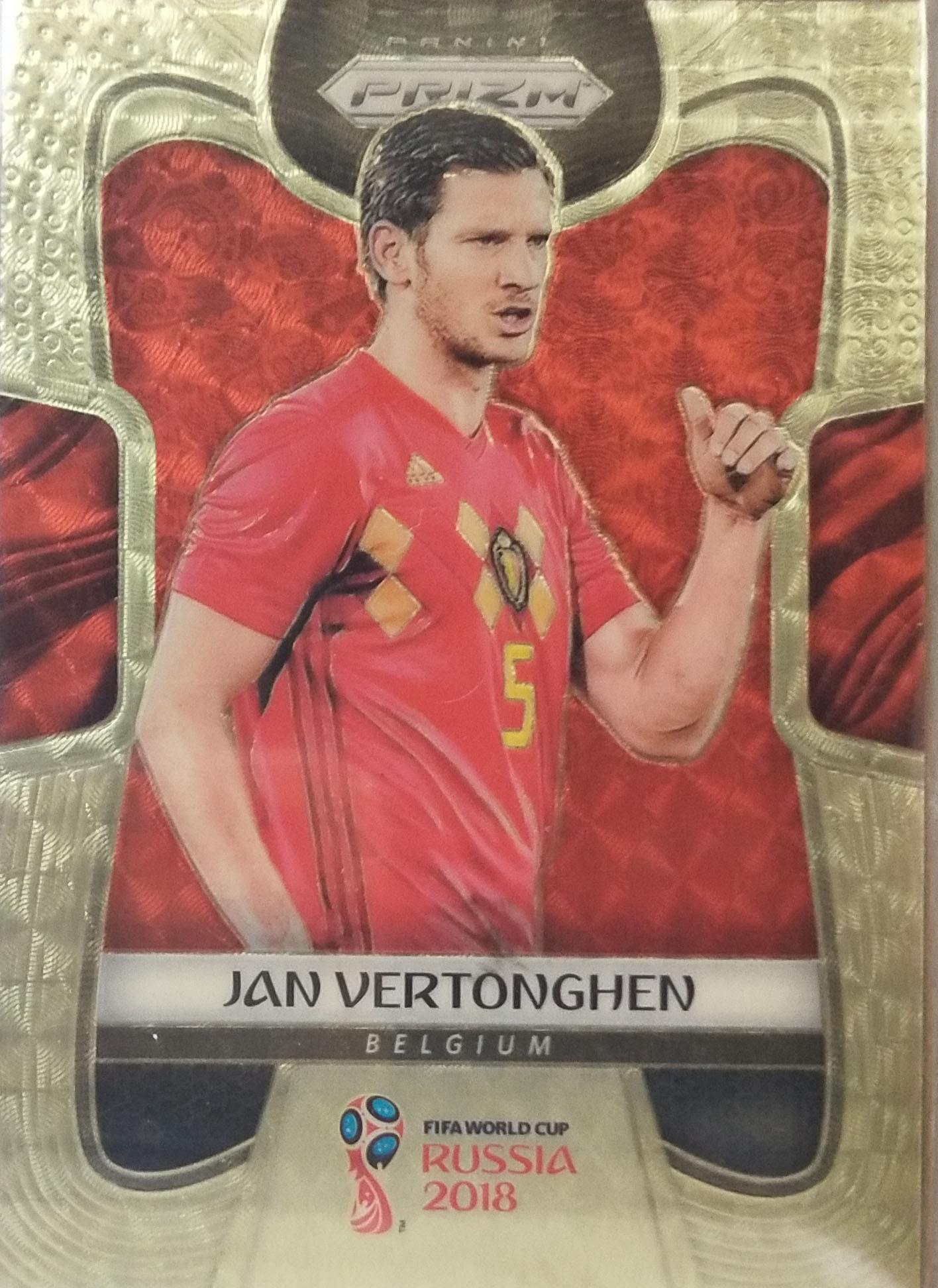 【自若清风】2018Panini帕尼尼俄罗斯世界杯Jan Vertonghen费尔通亨比利时1/5NO.16普卡
