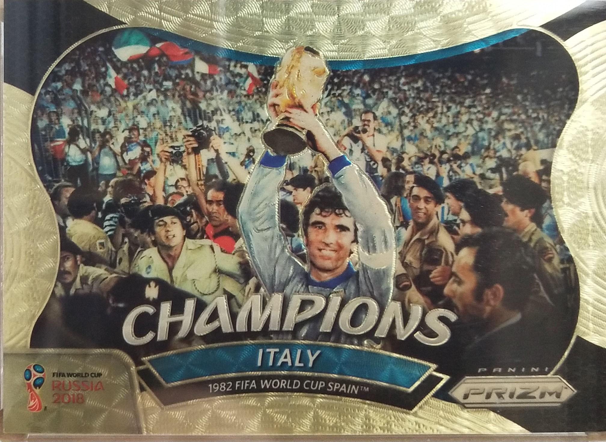 【自若清风】2018Panini帕尼尼俄罗斯世界杯Italy意大利意大利5/5NO.9特卡