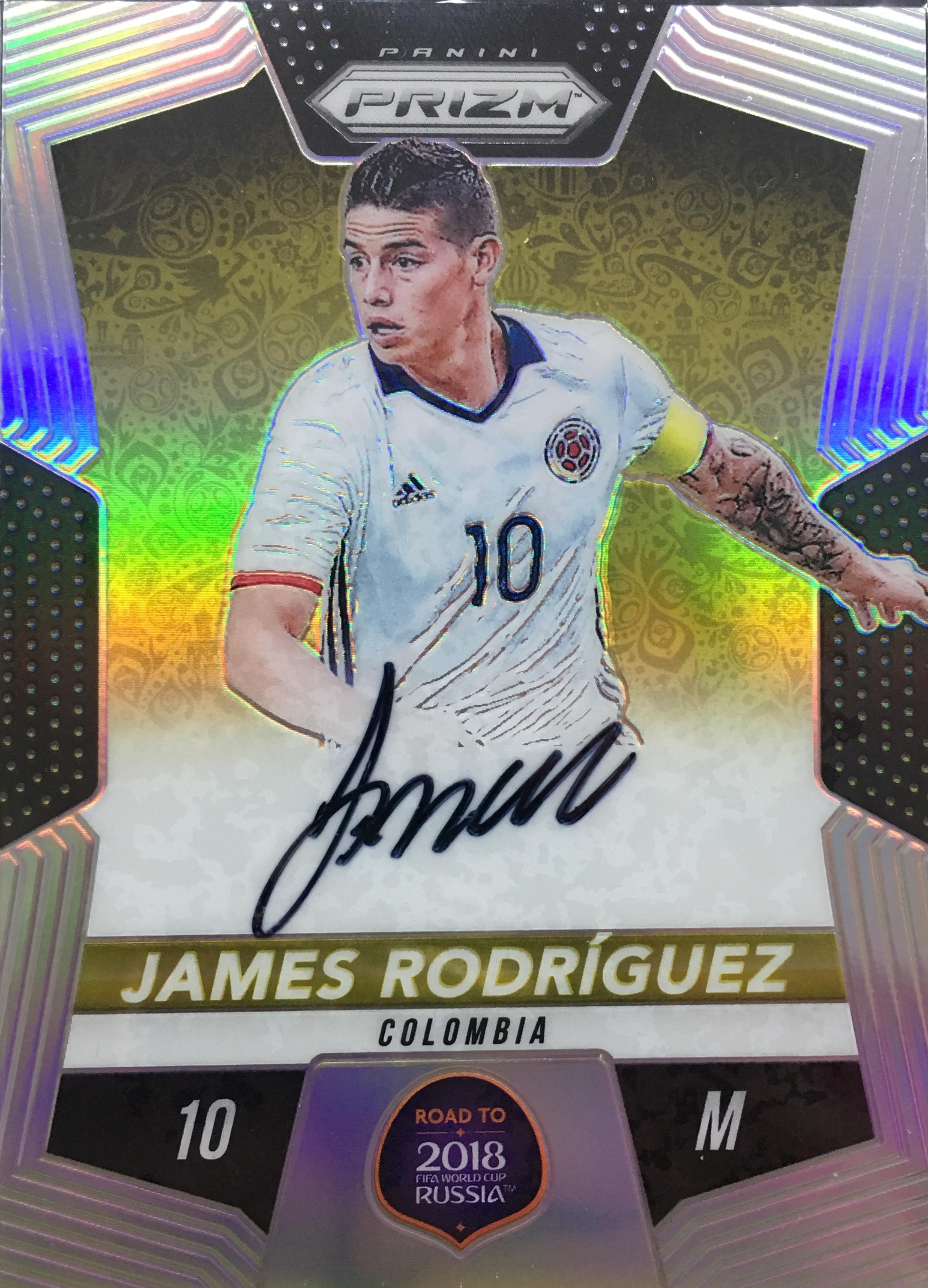 【风筝】2018Panini帕尼尼俄罗斯世界杯球星卡James RodriguezJ罗哥伦比亚40/99NO.RW-JR签字
