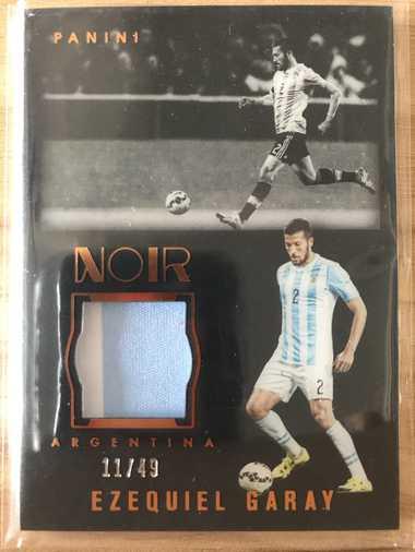 2016帕尼尼诺尔足球 球星卡 加雷 Ezequiel Garay 阿根廷 单球衣 11/49 实物