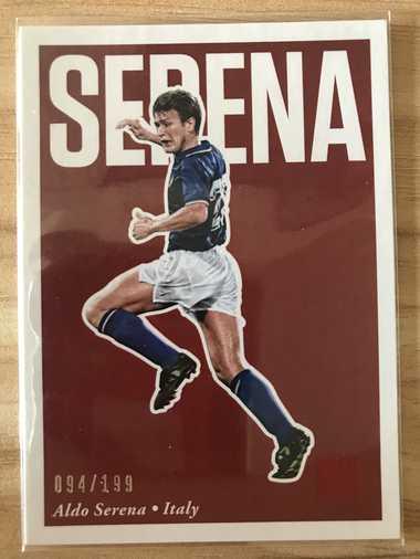 2017帕尼尼崇高足球 球星卡 塞雷纳 Aldo Serena 意大利 Base 94/199 NO.25