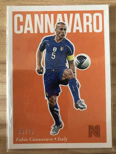 2017帕尼尼崇高足球 球星卡 卡纳瓦罗 Fabio Cannavaro 意大利 Base 9/75 NO.49