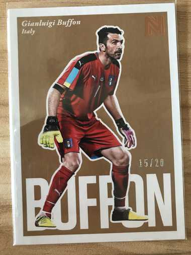 2017帕尼尼崇高足球 球星卡 布冯 Gianluigi Buffon 意大利 BaseSP 15/20 NO.95