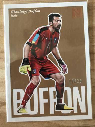 2017帕尼尼崇高足球 球星卡 布冯 Gianluigi Buffon 意大利 BaseSP 15/20 NO.95