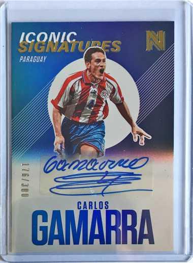 2017帕尼尼崇高足球 球星卡 加马拉 Carlos Gamarra 巴拉圭 标志性签名 176/300 签字