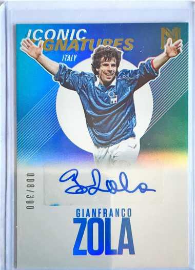 2017帕尼尼崇高足球 球星卡 佐拉 Gianfranco Zola 意大利 标志性签名 8/300 签字