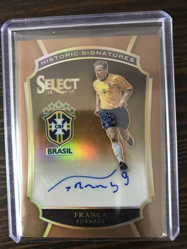 【开心就好】2016 Panini Select足球 球星卡 弗兰卡 巴西 史诗签 3/49 NO.20 签字