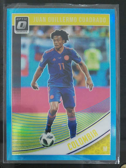 【Quincy】2019 Panini 杜蕾斯 球星卡  夸德拉多 Juan Guillermo Cuadrado 哥伦比亚 光学基础卡 水绿 74/149 NO.112 普卡