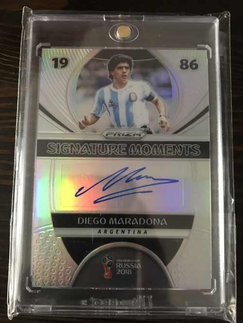 【开心就好】2018 panini 世界杯 球星卡 迭戈·马拉多纳 阿根廷 重要时刻签 折射 8/25 NO.5