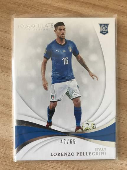 [开心就好] 2019 Panini Immaculate足球 球星卡 洛伦佐·佩莱格里尼 意大利 Base 47/65 NO.78