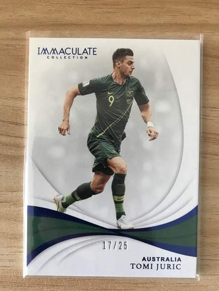 [开心就好] 2019 Panini Immaculate足球 球星卡 汤米·尤里奇 澳大利亚 Base 17/25 蓝宝石NO.22