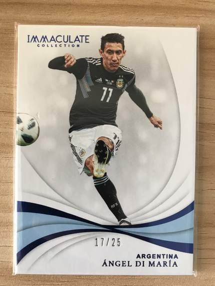 [开心就好] 2019 Panini Immaculate足球 球星卡 安赫尔·迪马利亚 阿根廷 Base 17/25 蓝宝石NO.59