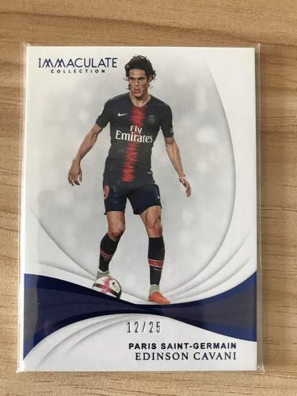 [开心就好] 2019 Panini Immaculate足球 球星卡 埃迪森·卡瓦尼 巴黎圣日耳曼 Base 12/25 蓝宝石NO.79