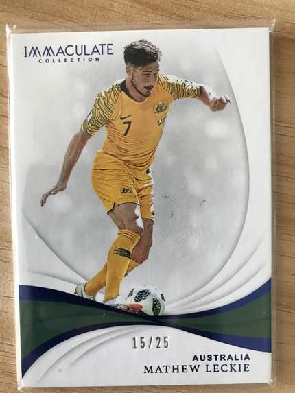 [开心就好] 2019 Panini Immaculate足球 球星卡 马修·莱茨基 澳大利亚 Base 15/25 蓝宝石NO.87