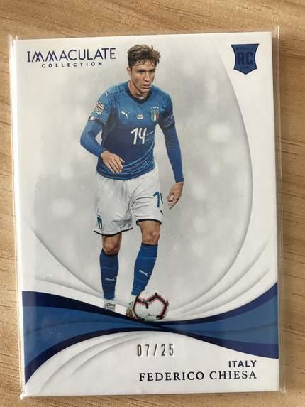 [开心就好] 2019 Panini Immaculate足球 球星卡 费德里科·基耶萨 意大利 Base 7/25 蓝宝石NO.97