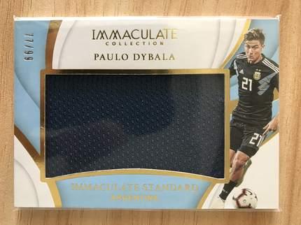 [开心就好] 2019 Panini Immaculate足球 球星卡 保罗·迪巴拉 阿根廷 完美标准实物卡 77/99 NO.33