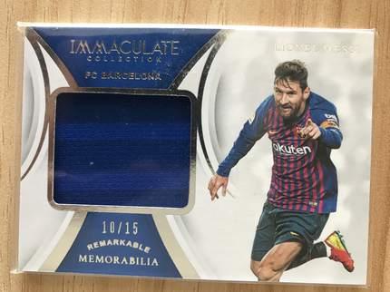 [开心就好] 2019 Panini Immaculate足球 球星卡 里奥·梅西 巴塞罗那 标志性实物卡 10/15 NO.25