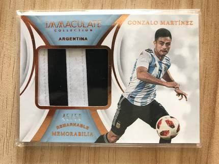 [开心就好] 2019 Panini Immaculate足球 球星卡 冈萨洛·马丁内斯 阿根廷 标志性实物卡 45/50 铜NO.15