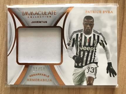 [开心就好] 2019 Panini Immaculate足球 球星卡 帕特里斯·埃弗拉 尤文图斯 标志性实物卡 11/50 铜NO.37