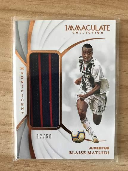 [开心就好] 2019 Panini Immaculate足球 球星卡 布莱斯·马泰迪 尤文图斯 辉煌实物卡 12/50 铜NO.8