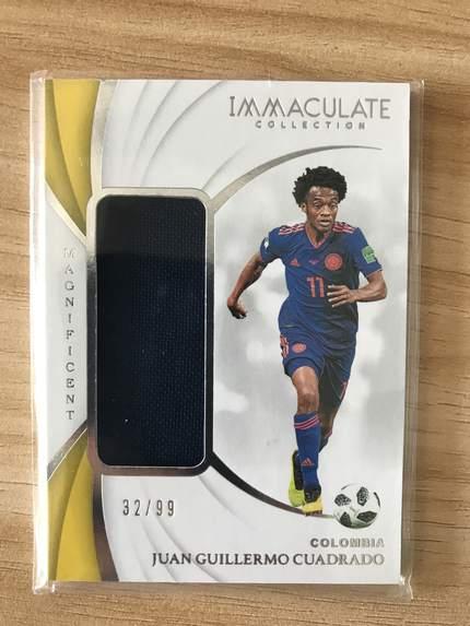 [开心就好] 2019 Panini Immaculate足球 球星卡 胡安·夸德拉多 哥伦比亚 辉煌实物卡 32/99 NO.19