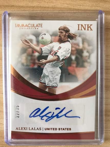 [开心就好] 2019 Panini Immaculate足球 球星卡 阿莱克西·拉拉斯 美国 墨水签字卡 32/35 铜NO.5