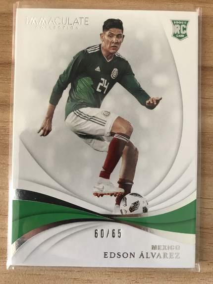[开心就好] 2019 Panini Immaculate足球 球星卡 埃德森·阿尔瓦雷斯 墨西哥 Base 60/65 NO.28