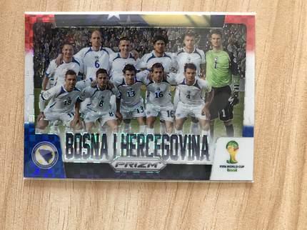 [开心就好] 2014 Panini 巴西世界杯足球 球星卡 波黑 波黑 全家福特卡 红白蓝折NO.5