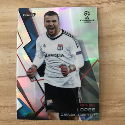 【Ed】2019 Topps 欧冠Finest 球星卡 安东尼·洛佩斯 Anthony Lopes 里昂 基础卡 NO.70