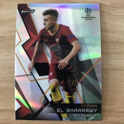【Ed】2019 Topps 欧冠Finest 球星卡 沙拉维 Stephan El Shaarawy 罗马 基础卡 NO.87